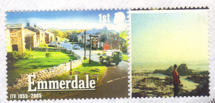 First Class British Stamp, with picture of Guernsey Author Abdul Haye Amin.