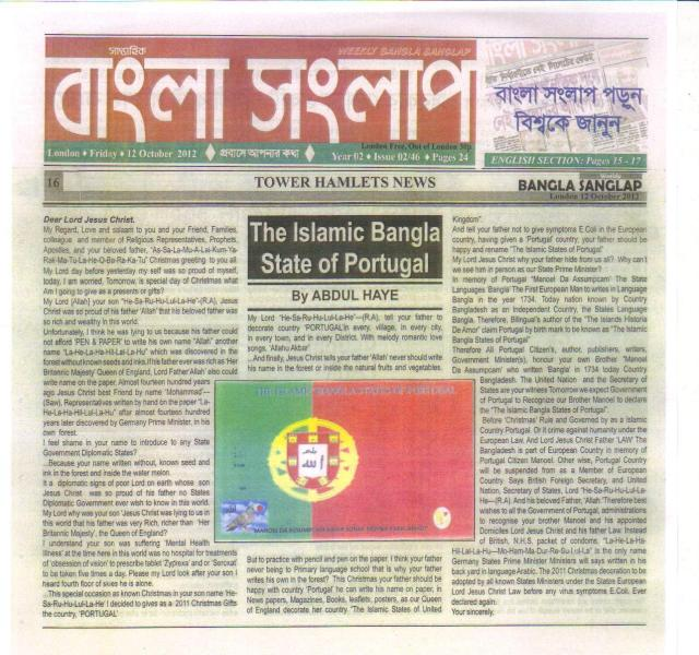 The Islamic Bangla States of Portugal.