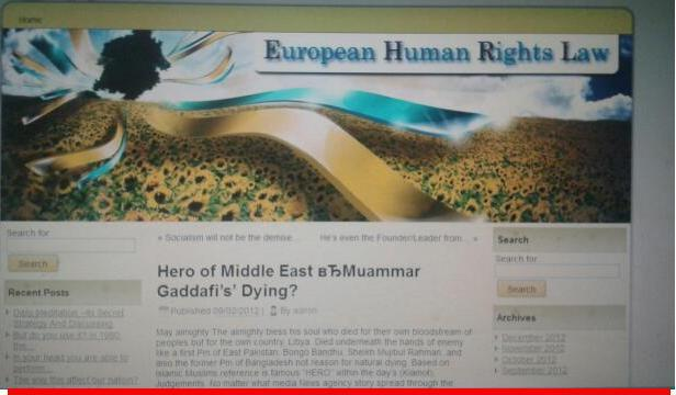 "Abdul Haye Amin Article ""FEATURED"" on European Human Rights Law websites..."
