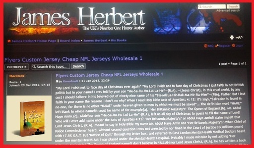 James Herbert Favorites articles 'My Lord I wish Not to Face Day of Christmas Ever Again'